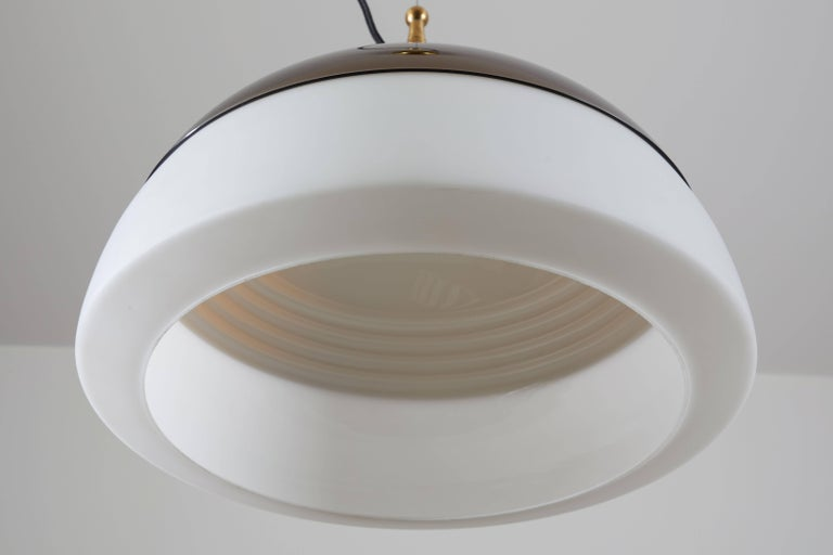 Glass Two Suspension Lights by Stilnovo For Sale