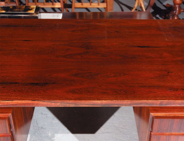 Rosewood Desk from Denmark In Fair Condition For Sale In Los Angeles, CA