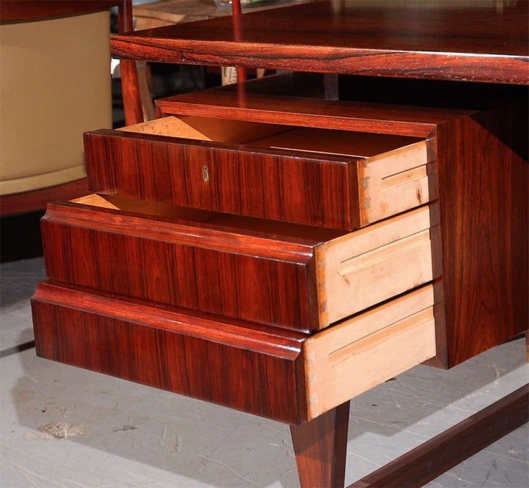 Mid-20th Century Rosewood Desk from Denmark For Sale