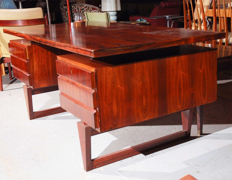 Rosewood Desk from Denmark For Sale 1