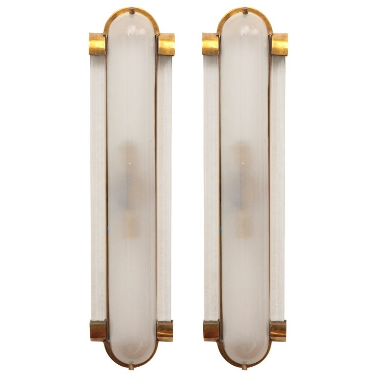 Pair Of Murano Glass Wall Sconces At 1stdibs