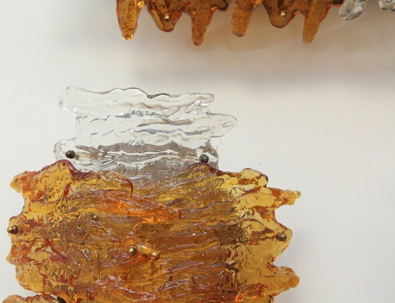 Pair of Murano Wall Sconces In Good Condition For Sale In Los Angeles, CA