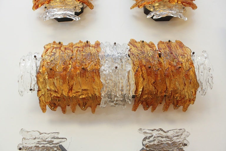 Mid-20th Century Pair of Murano Wall Sconces For Sale