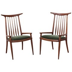 Pair of Sam Maloof Horn Back Chairs