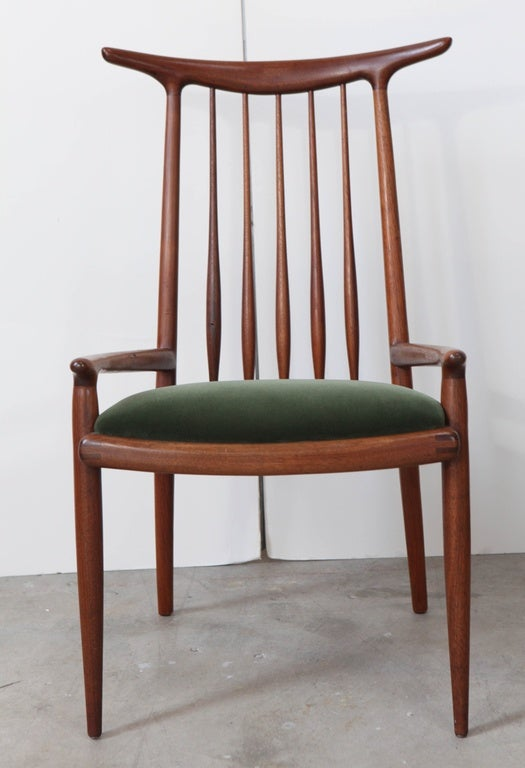 American Pair of Sam Maloof Horn Back Chairs For Sale