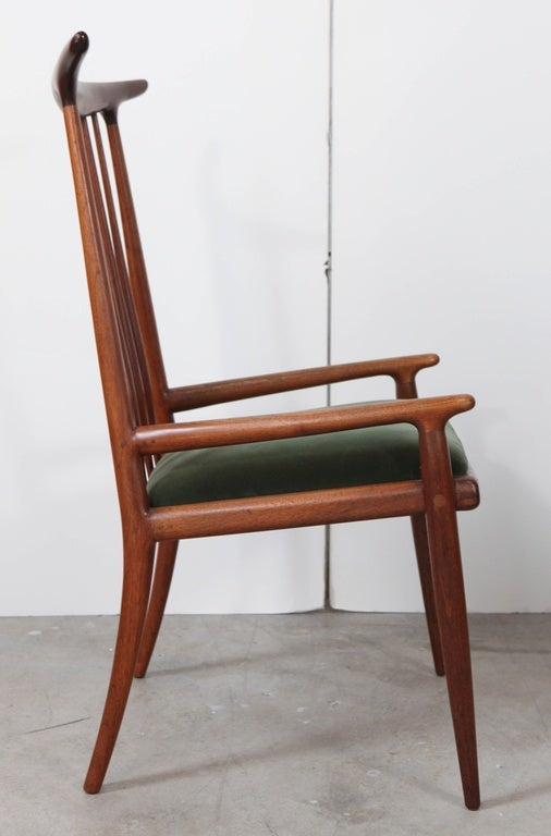 Pair of Sam Maloof Horn Back Chairs In Good Condition For Sale In Los Angeles, CA