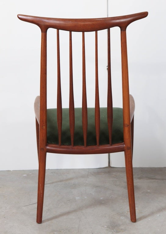 Mid-20th Century Pair of Sam Maloof Horn Back Chairs For Sale