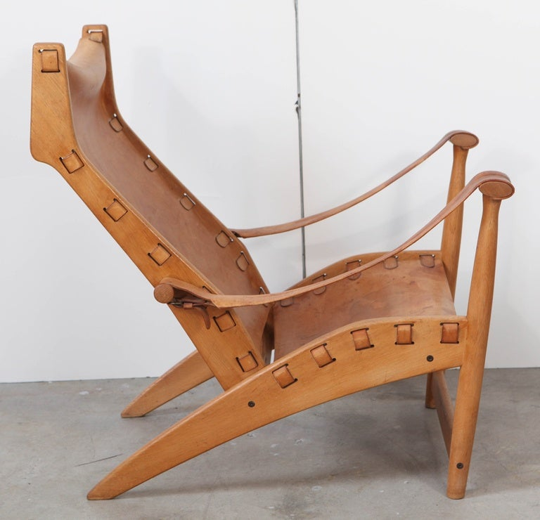 Leather Mogens Voltelen 'Copenhagen' Chair For Sale