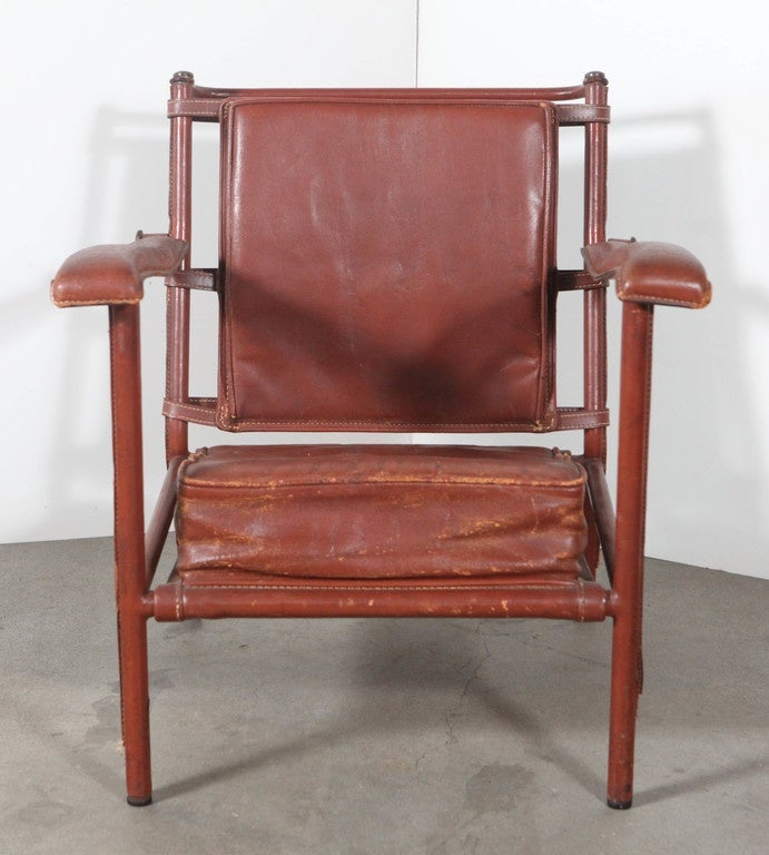 French Jacques Adnet Armchair For Sale