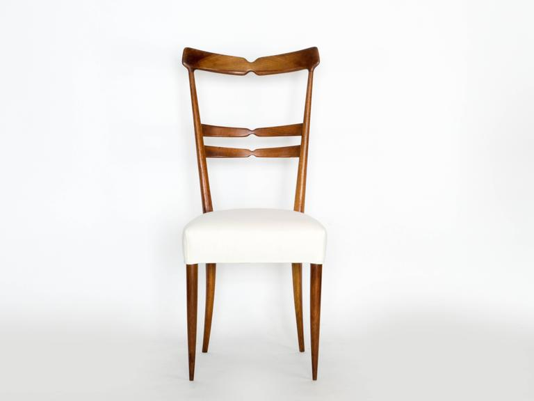 Mid-Century Modern Set of Six Dining Chairs For Sale