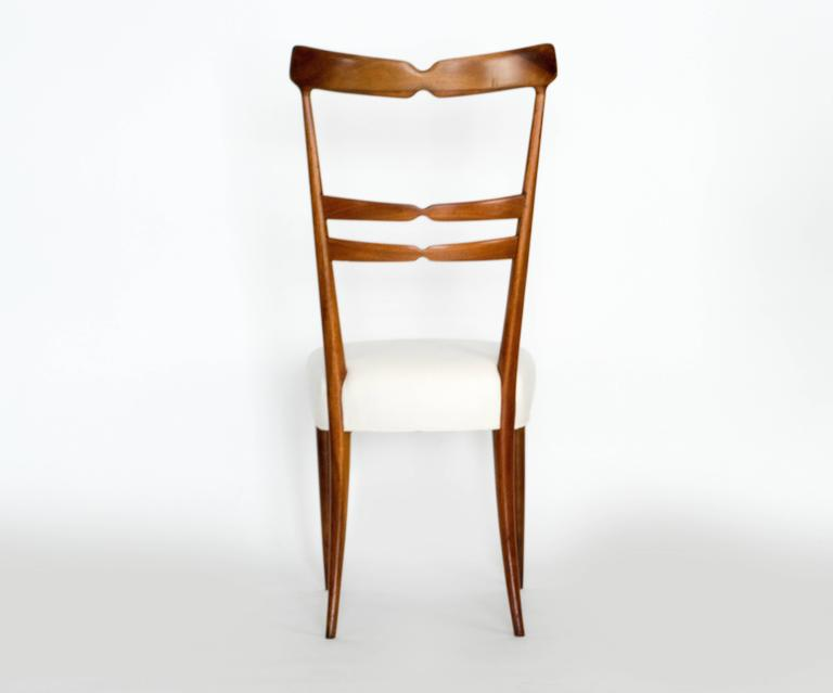 Italian Set of Six Dining Chairs For Sale