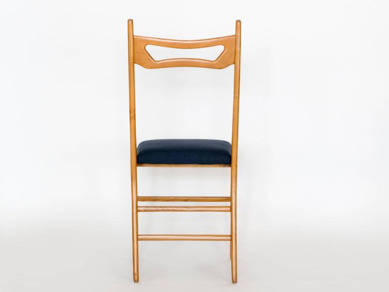 Set of Six Italian Dining Chairs In Good Condition For Sale In Los Angeles, CA
