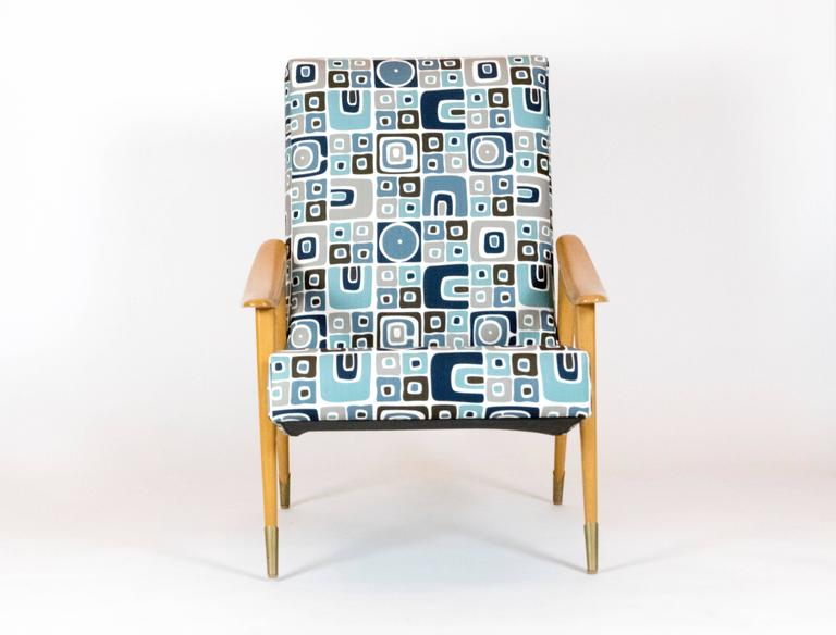 Mid-20th Century Pair of French Mid-Century Armchairs For Sale