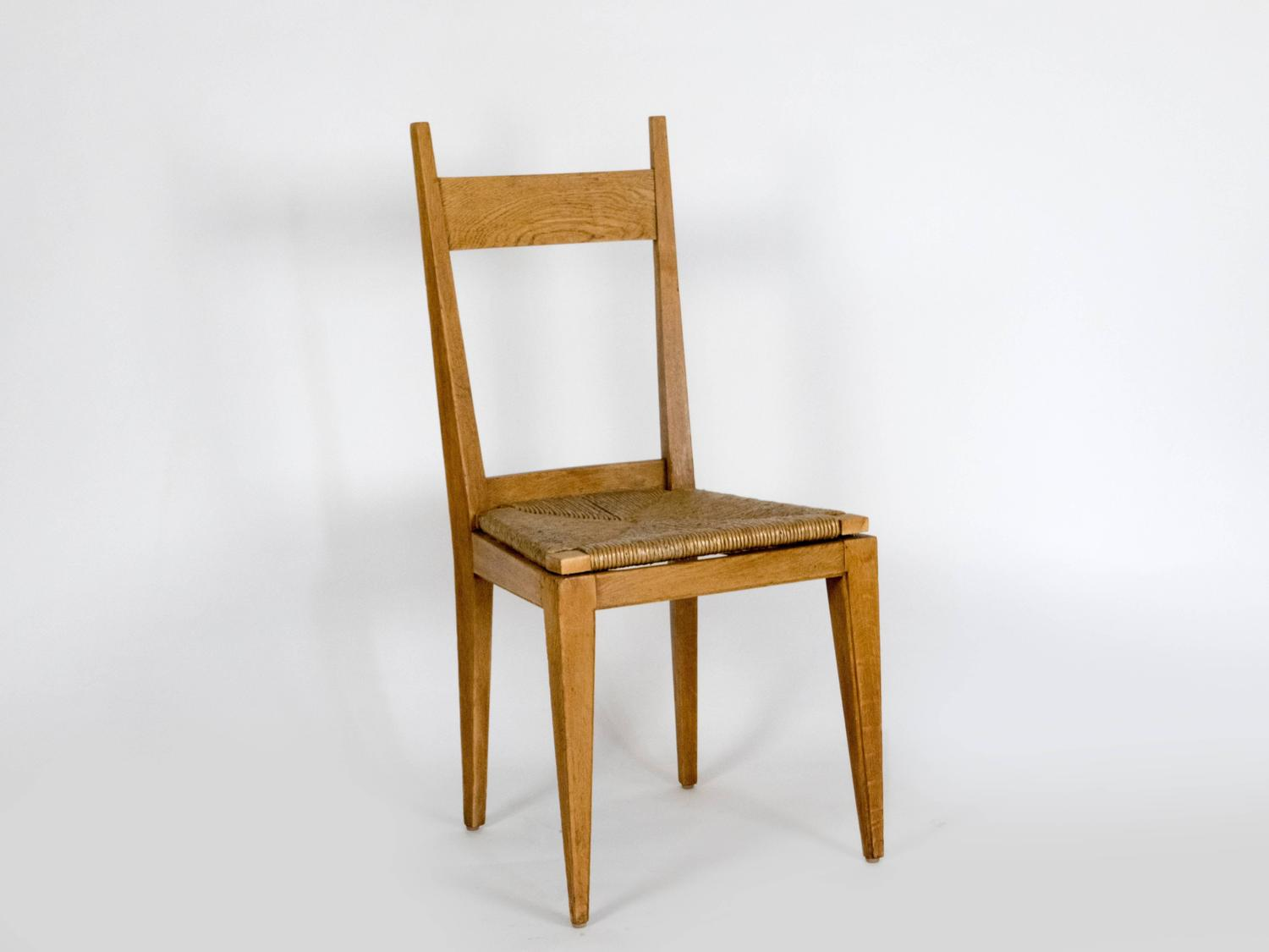seat of six oak dining chairs for sale at 1stdibs