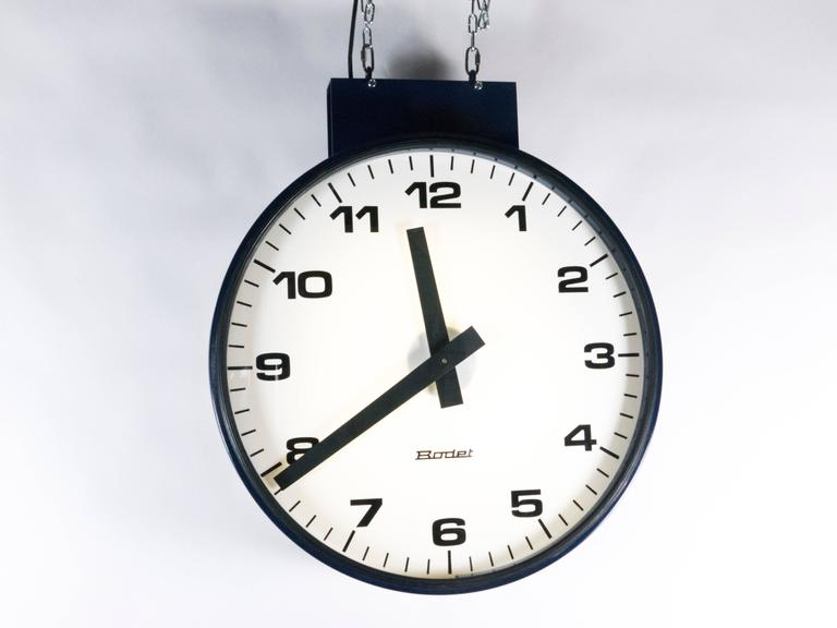 Double Faced Train Station Clock For Sale At 1stdibs