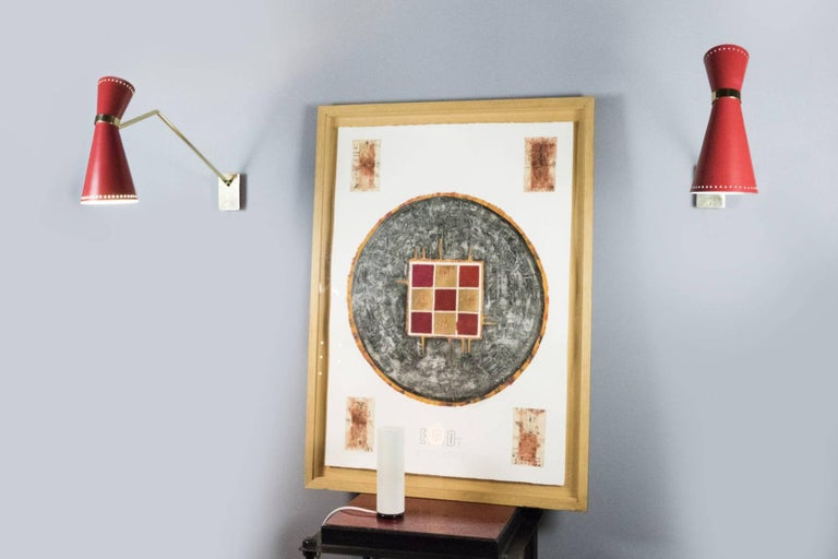 Pair of Italian Midcentury Wall Sconces For Sale 2