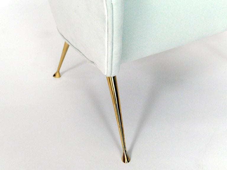 Brass Pair of Briance Chairs by Bourgeois Boheme Atelier For Sale