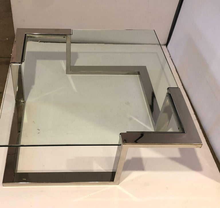 French 1970 Modernist Coffee Table For Sale