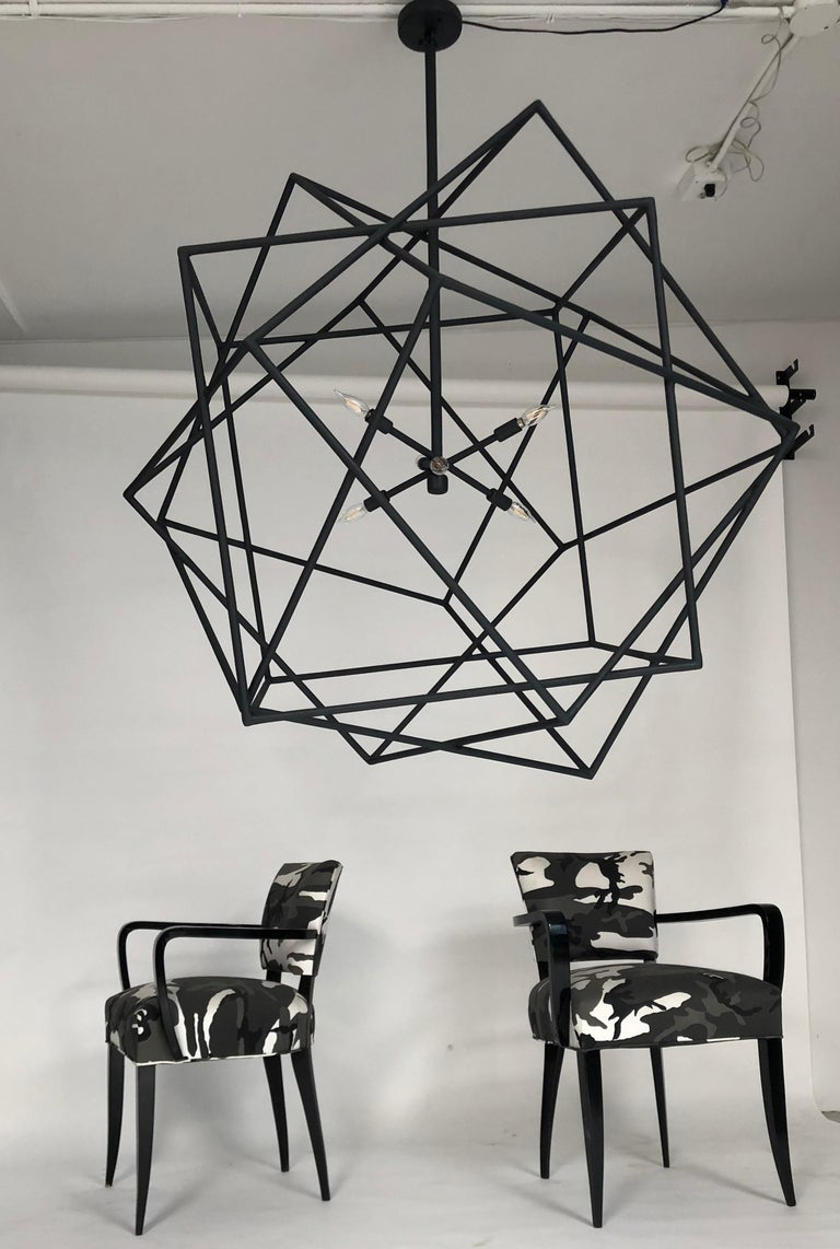 Plaster Louvre Chandelier by Bourgeois Boheme Atelier For Sale