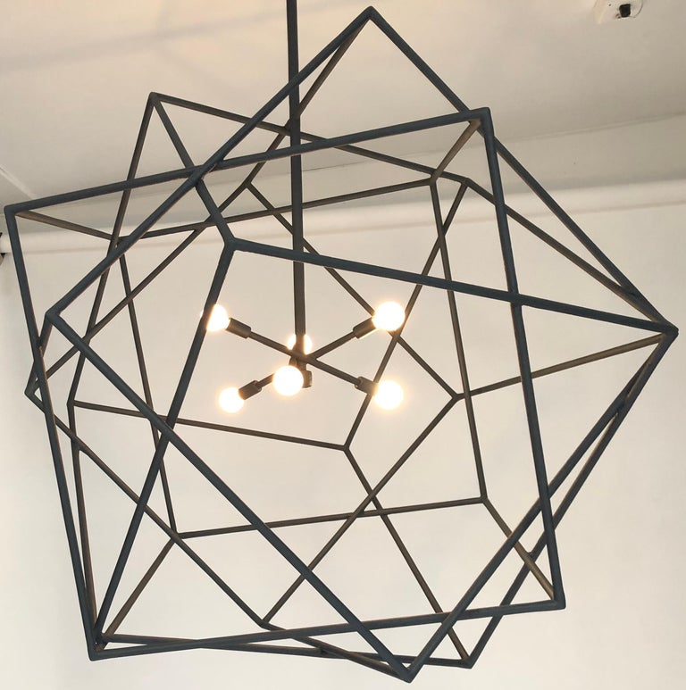 Contemporary Louvre Chandelier by Bourgeois Boheme Atelier For Sale