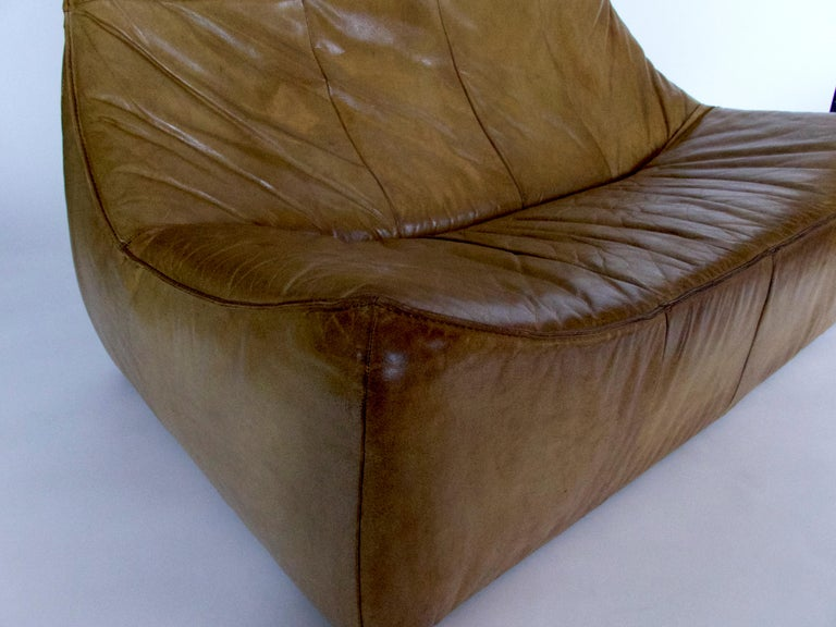 "Leather ""The Rock"" Love Seat For Sale"