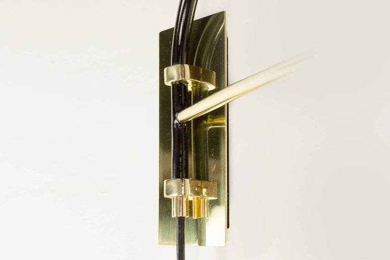 Brass Pair of Danube Sconces by Bourgeois Boheme Atelier For Sale