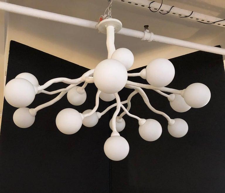 Plaster Republique Chandelier by Bourgeois Boheme Atelier For Sale