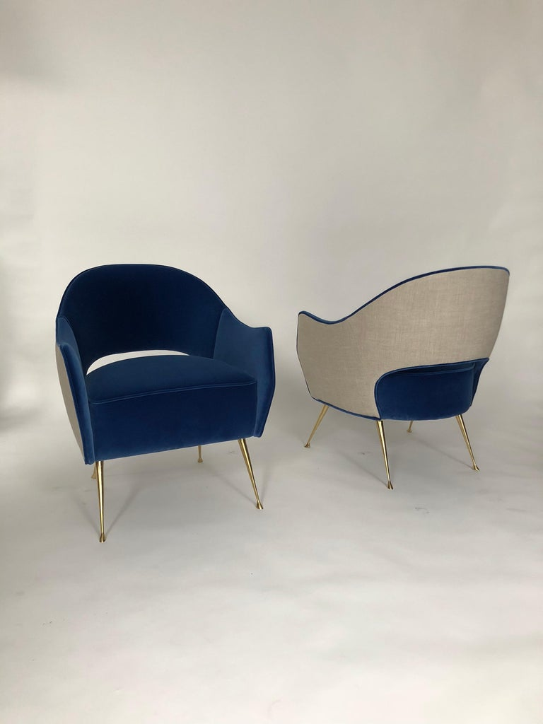Pair of Briance Chairs by Bourgeois Boheme Atelier For Sale 1
