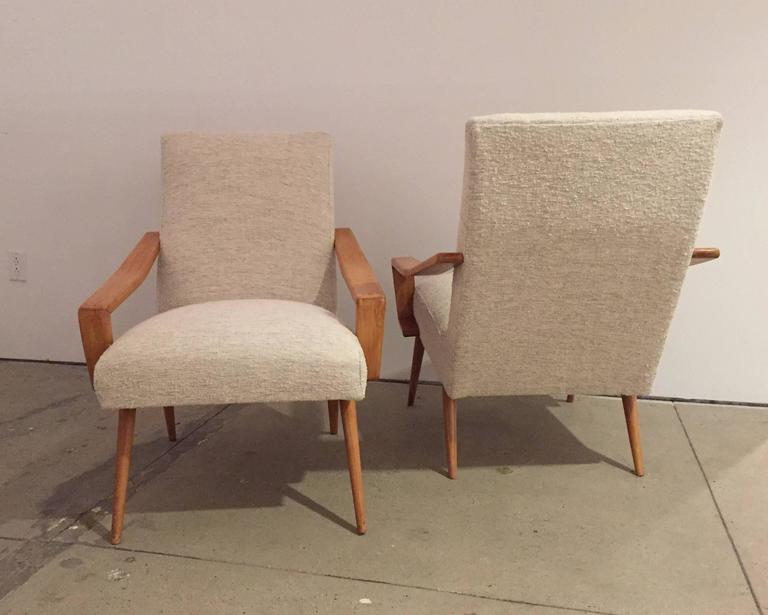 Pair of 1950 French Armchairs 7
