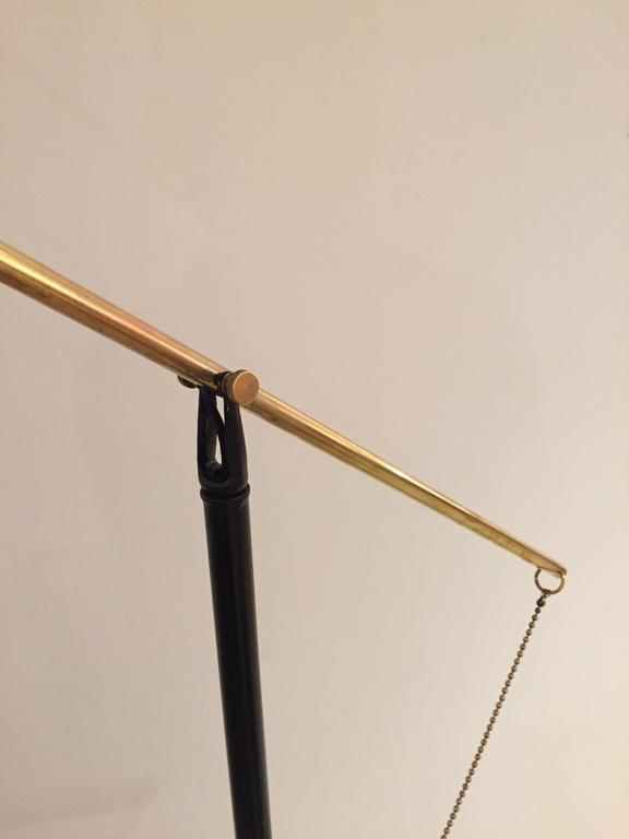 Elegant Mid-Century French Floor Lamp For Sale 1