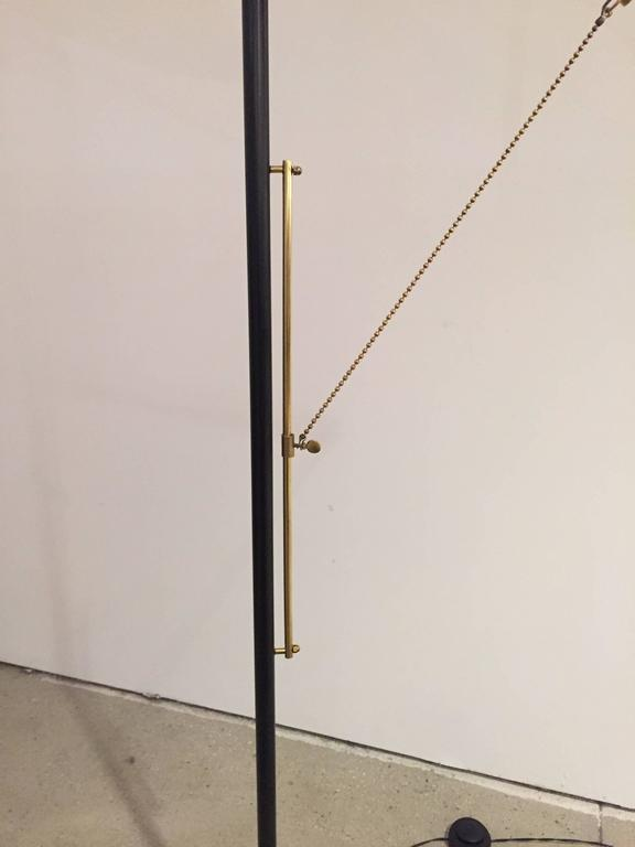 Elegant Mid-Century French Floor Lamp For Sale 2