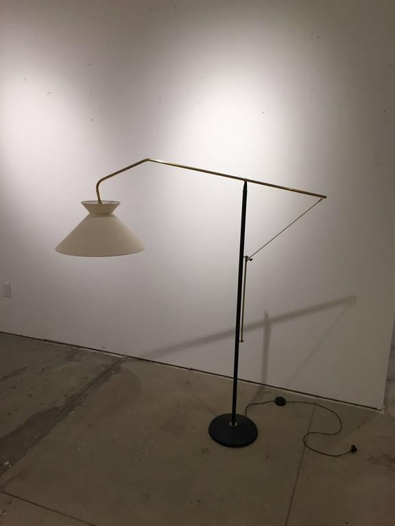Mid-Century Modern Elegant Mid-Century French Floor Lamp For Sale
