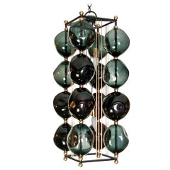 Opera Prima Chandelier with Black Glass By Bourgeois Boheme Atelier