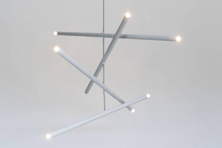 Modern Pyramides Chandelier by Bourgeois Boheme Atelier For Sale
