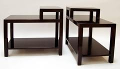 T.H. Robsjohn-Gibbings, Pair of Step Tables