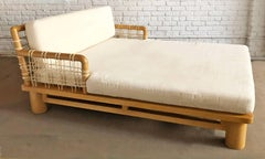Karl Springer Double Chaise Lounge