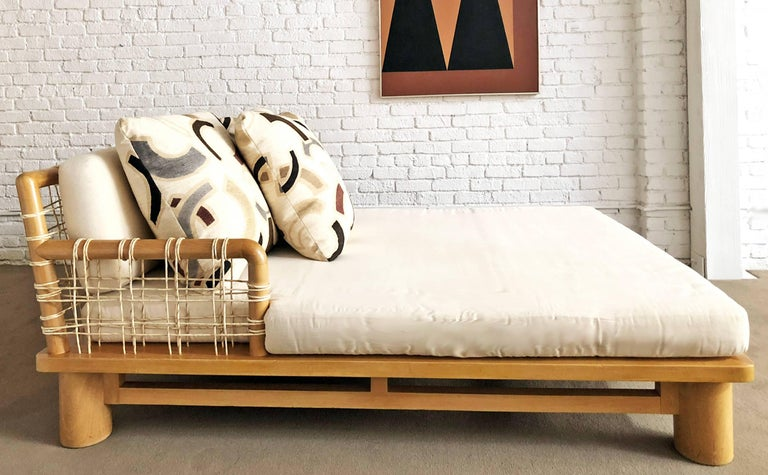 Hand-Crafted Karl Springer Double Chaise Lounge For Sale