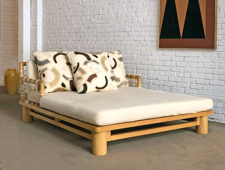 Karl Springer Double Chaise Lounge In Excellent Condition For Sale In Los Angeles, CA
