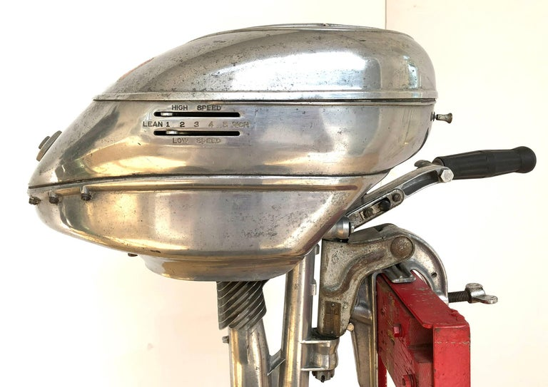 Machine-Made American Machine Age Outboard Motor For Sale