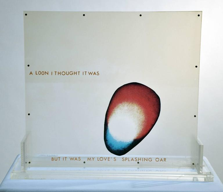 "Robert Rauschenberg, ""Opal Gospel"" In Excellent Condition For Sale In Los Angeles, CA"