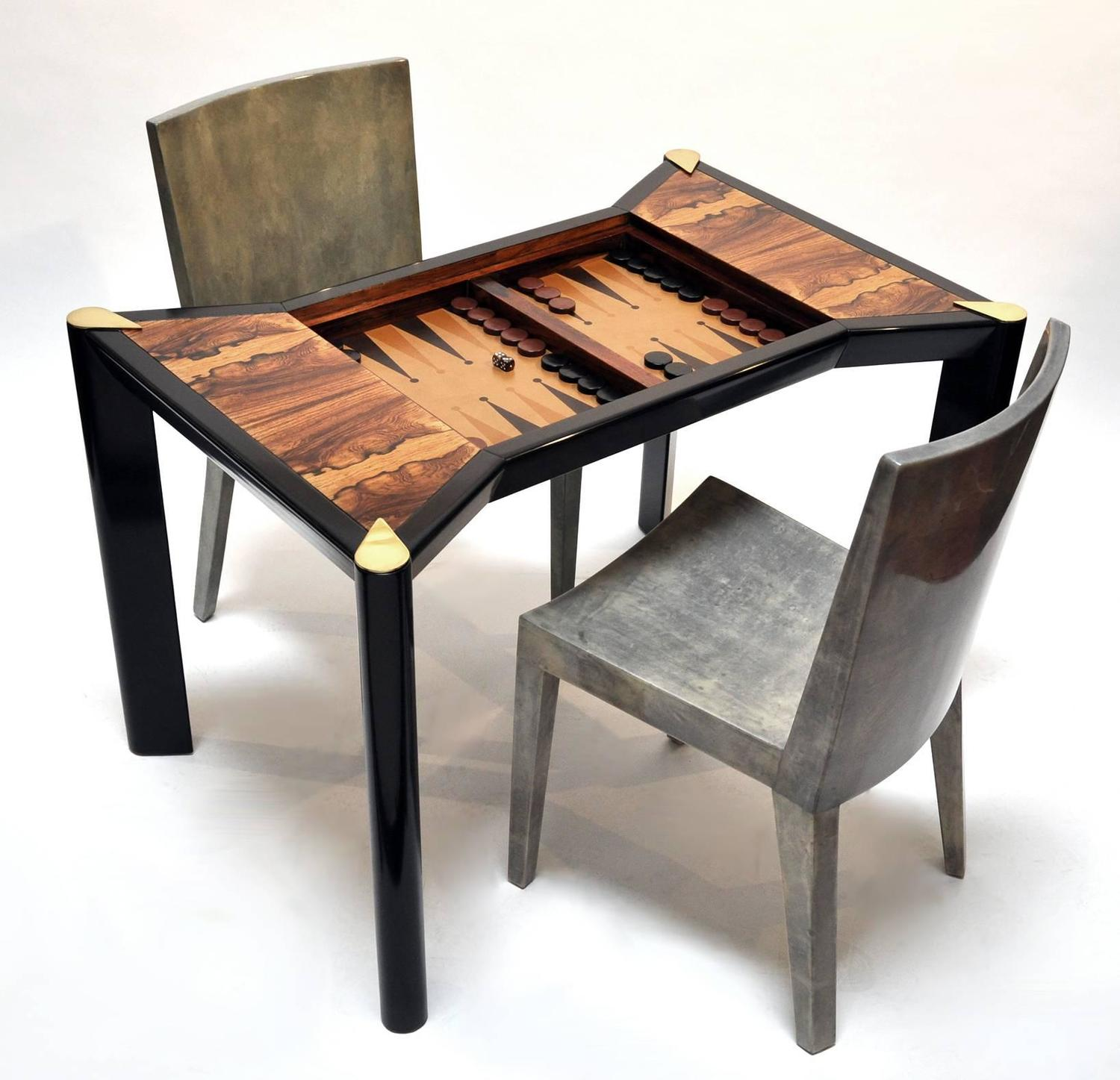 1970s italian game table backgammon chess checkers at. Black Bedroom Furniture Sets. Home Design Ideas
