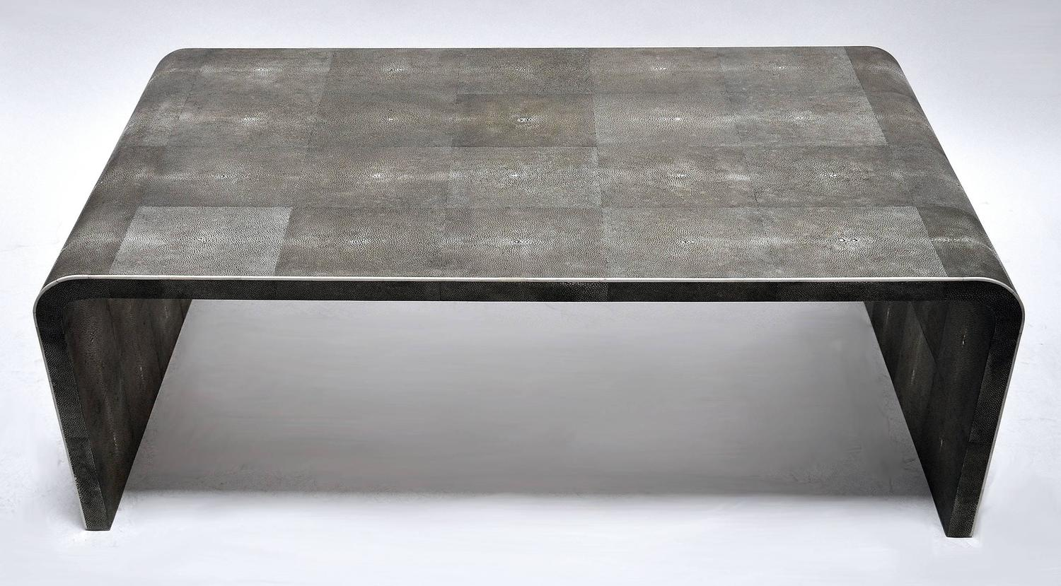shagreen clad coffee table with bone detail at 1stdibs. Black Bedroom Furniture Sets. Home Design Ideas