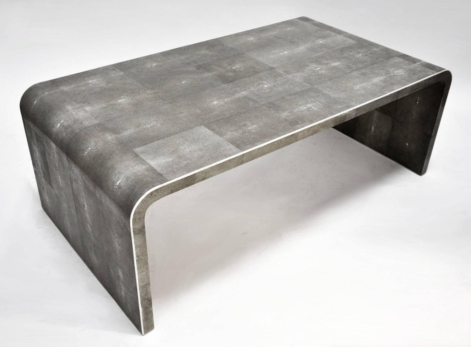 Shagreen Clad Coffee Table With Bone Detail At 1stdibs