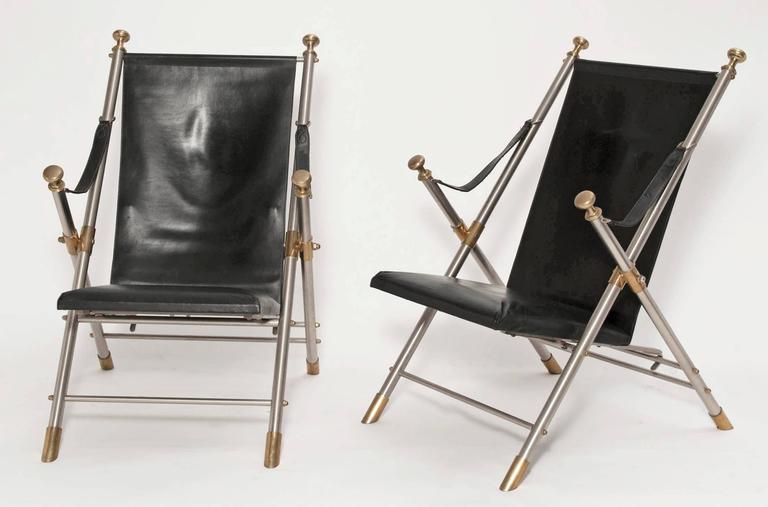 Pair of Classic Campaign Chairs, 1960s 2