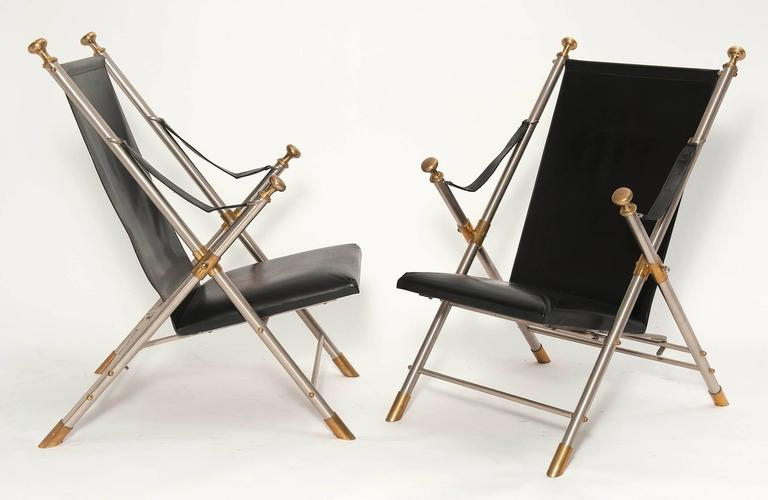Arm Chairs Campaign Style Pair 5