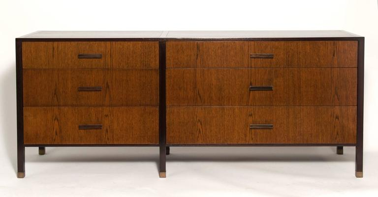 Signed: Six-drawer dresser designed by Harvey Probber. Top quality design and materials. Clean and ready for use.