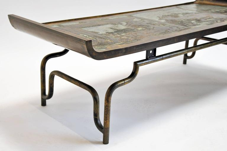 Philip and Kelvin LaVerne Coffee Table Bronze and Pewter 2