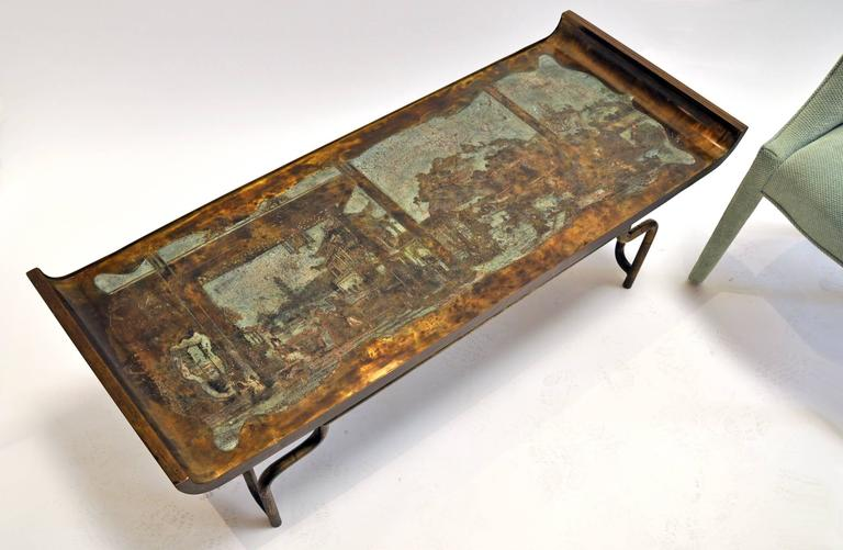 Philip and Kelvin LaVerne Coffee Table Bronze and Pewter 3
