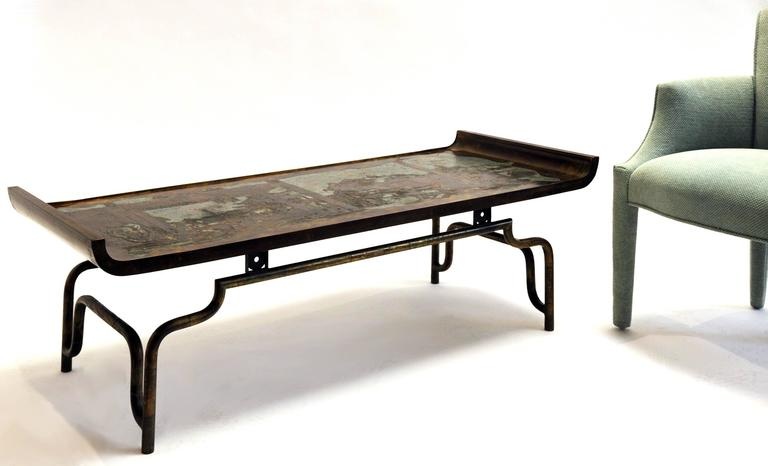 Philip and Kelvin LaVerne Coffee Table Bronze and Pewter 4