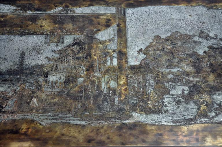 Philip and Kelvin LaVerne Coffee Table Bronze and Pewter 5
